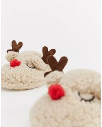 Truffle Collection - Christmas Reindeer Slippers - Lyst