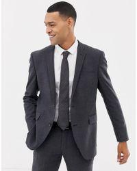 Esprit - Slim Fit Commuter Suit Jacket In Grey Check - Lyst