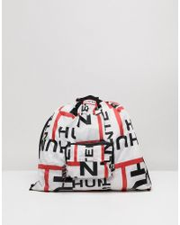 HUNTER - Original Exploded Logo Packable Tote - Lyst