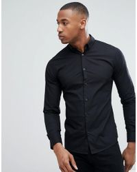 Only & Sons - Cotton Shirt With Button Down Collar - Lyst