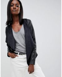 Oasis - Faux Leather Waterfall Jacket - Lyst