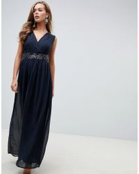 f8122a9305673e Ted Baker Embroidered Floral Mariz Maxi Dress in Black - Lyst