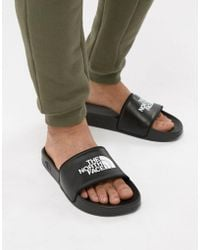 The North Face - Base Camp Sliders Ii In Black/white - Lyst