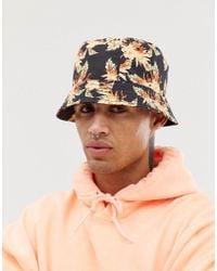 119265faa92 Lyst - Huf Floral Bucket Hat in Black for Men