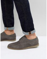 Frank Wright - Lace Up Shoes In Grey Suede - Lyst