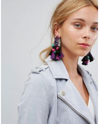 ALDO | Woidien Multicoloured Tassel Statement Earrings | Lyst