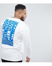 ASOS - Plus Relaxed T-shirt With Checker Board Neck & Back Print - Lyst
