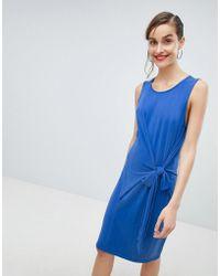869de8d45e058 Lyst - Selected Sinca Slip Dress In Sandwashed Silk in Blue