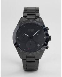 BOSS - 1513581 Talent Chronograph Ceramic Bracelet Watch In Black - Lyst