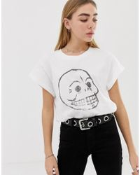 Cheap Monday - Organic Cotton T-shirt With Faded Skull - Lyst