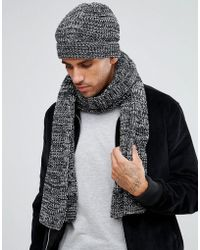 French Connection - Marble Knit Beanie Hat - Lyst