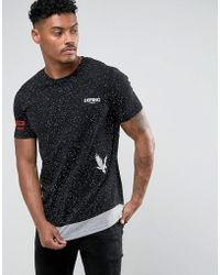 Defend London - Layered T-shirt With Patches - Lyst
