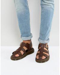Dr. Martens - Galia Carpathian Sandals In Tan - Lyst