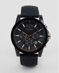 Armani Exchange - Ax1326 Outerbanks Leather Watch - Lyst