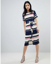 Sugarhill - Heidi Modern Stripe Belted Midi Dress - Lyst