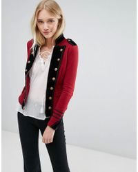 Denim & Supply Ralph Lauren - Military Jersey Jacket With Zip - Lyst