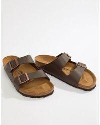 Birkenstock - Arizona Birko-flor Sandals In Dark Brown - Lyst