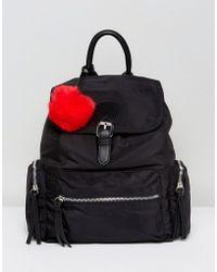 Pull&Bear - Nylon Pocket Detail Back Pack - Lyst
