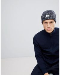 Esprit - Turn Up Chunky Marl Beanie In Wool Blend - Lyst