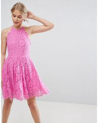 ASOS - Asos Lace Pinny Scallop Edge Prom Mini Dress - Lyst