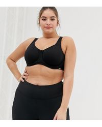 City Chic - Smooth & Chic Sports Bra In Black - Lyst