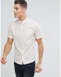 Bellfield - Short Sleeve Shirt In Pale Pink - Lyst