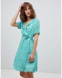Suncoo - Printed Wrap Dress - Lyst