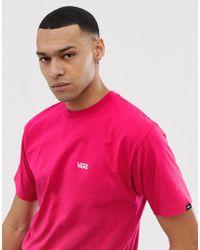 Vans - T-Shirt in Rosa mit kleinem Logo - Lyst