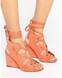 ASOS - Taste Lace Up Sandals - Lyst