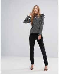 New Look - Slim Leg Tailored Pants - Lyst
