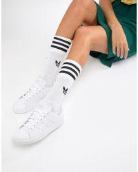 ba689e13b Lyst - adidas Originals Originals Triple White Stan Smith Trainers ...