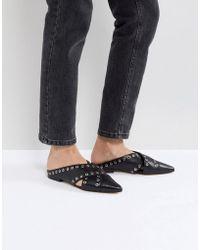 Sol Sana - Cross Black Eyelet Flat Shoes - Lyst