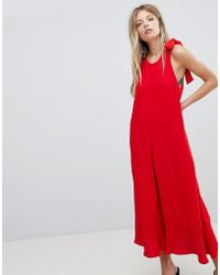 French Connection - Crepe Wide Leg Bow Jumpsuit - Lyst