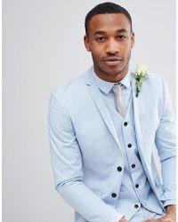 Jack & Jones - Premium Skinny Suit Jacket In Dusty Blue - Lyst