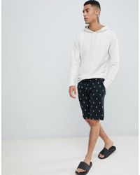 Polo Ralph Lauren - Slim Lounge Shorts All Over Player Print In Black - Lyst