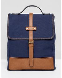 Dune - Luke Canvas Backpack - Lyst