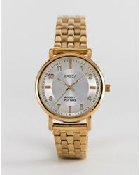 Breda - 5017d Unisex Gold Plated Watch In Gold - Lyst
