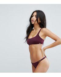 Free Society   Square Neck Bikini Top   Lyst