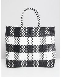 Warehouse - Shopper Bag In Check - Lyst