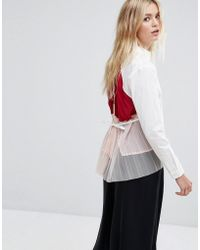 MAX&Co. - Max&co Pleat Back Shirt - Lyst