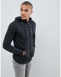 Only & Sons - Zip-up Hoodie With Chest Pocket - Lyst