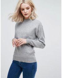 Vila - High Neck Sweater - Lyst