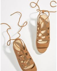 ALDO - Suede Tie Up Flatform Espadrille Sandals - Lyst