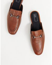 ASOS - Backless Loafer In Tan With Snaffle - Lyst