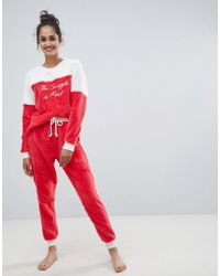 94315b836908 Chelsea Peers - The Snuggle Is Real Fluffy Pyjama Set - Lyst
