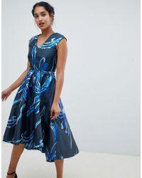 Closet - Jacqard Hi Lo Dress - Lyst