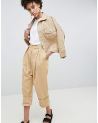 ASOS - Drop Crotch Twill Trousers - Lyst