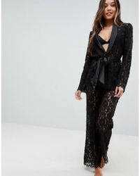 Lipsy - Darcelle Lace Pant - Lyst