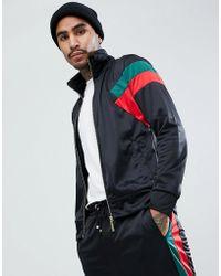 Criminal Damage - Muscle Track Jacket In Black - Lyst
