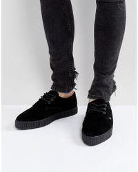 T.U.K. - Suede Creeper Sneakers - Lyst